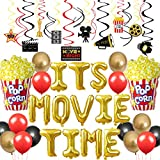 Movie Night Themed Party Decorations Set Its Movie Time Balloons for Hollywood Oscar Movie Night Birthday Now Showing Party Supplies Popcorn Balloons 20 Hanging Swirls