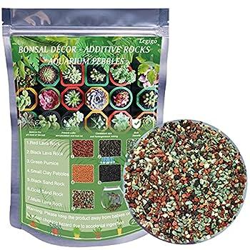 Legigo 2.2LB Natural Decorative Ornamental Pumice -Soil Gritty Mix Rocks for Bonsai Succulent and Cactusfor Fairy Gardening Decorative Vase Fillers Terrarium Top Dressing
