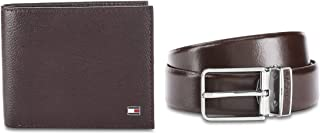 Tommy Hilfiger Bordeaux Men's Belt & Wallet Combo (TH/EVERTON/WALL/BLT/05)