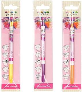 Funcakes - Pack de 3 bolígrafos comestibles, (Violeta,