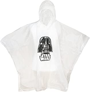 Disney Kids' Star Wars Darth Vader Clear Rain Poncho