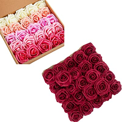 Details about  /144Pcs//Set Foam Mini Roses Head Small Flowers Wedding Home Decor Party DIY C9O5