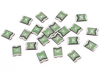 Aexit 20PCS 5x5 Fuses 0.5A 24V Fast Acting Chip PCB SMD 1812 Cartridge Fuses Resettable Fuse