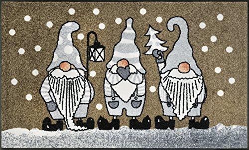 Felpudo (75 x 120 cm), diseño de Enanos de Invierno, Color Gris
