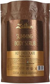 Zeitun Exfoliating Body Scrub - Cellulite Treatment - Natural Skin Exfoliator for Men and Women - Organic Coffee Scrub for Full Body - Coffee, Dead Sea Salt, Chili, Guarana, Moisturizing Oils 7 oz