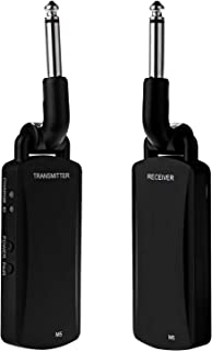 Wireless Guitar System - ZXK CO 5.8GHz Rechargeable Guitar Wireless Audio Transmitter Receiver - Electric Digital Guitar System Transmitter Receiver Set