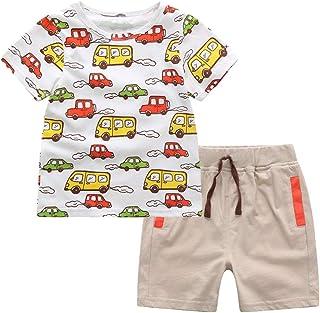 Mud Kingdom Baby Boys Outfits Cute Cars T-Shirts and Shorts Clothes Sets Summer