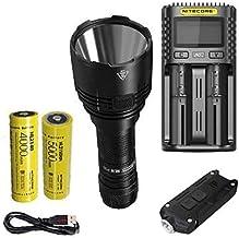 Combo: Lanterna NITECORE Nova P30 de próxima geração - 1000 lúmens - 2 x 21700 pilhas recarregáveis USB-C, luz de chaveiro...