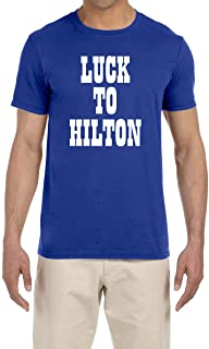 Blue Indianapolis Luck to Hilton T-Shirt