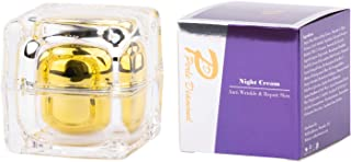 Perle Diamond crema de noche | Piel antiarrugas y reparadora | Crema Facial Antienvejecimiento | Vitamina C, Vitamina E Crema Hidratante Facial Natural | Crema de noche unisex 50g