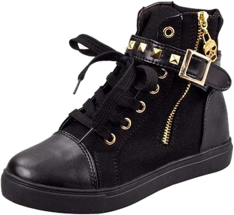 JaHGDU Wedge Heels Boots Women's shoes Fashion Casual Fashion Leisure Elegant Cosy Wild Tight Super Quality Black White for Womens