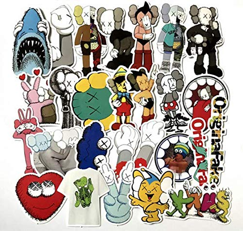 Xx Cartoon Waterproof Stickers L Tide Brand Skateboard Trolley Suitcase Luggage Bicycle Car Stickers 27 Sheets/Set