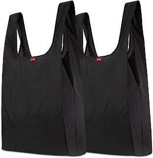 achilles 2er Set Einkaufstaschen, stabile Tragebeutel wiederverwendbar, Faltbare Beutel aus 100% Polyester, federleicht un...