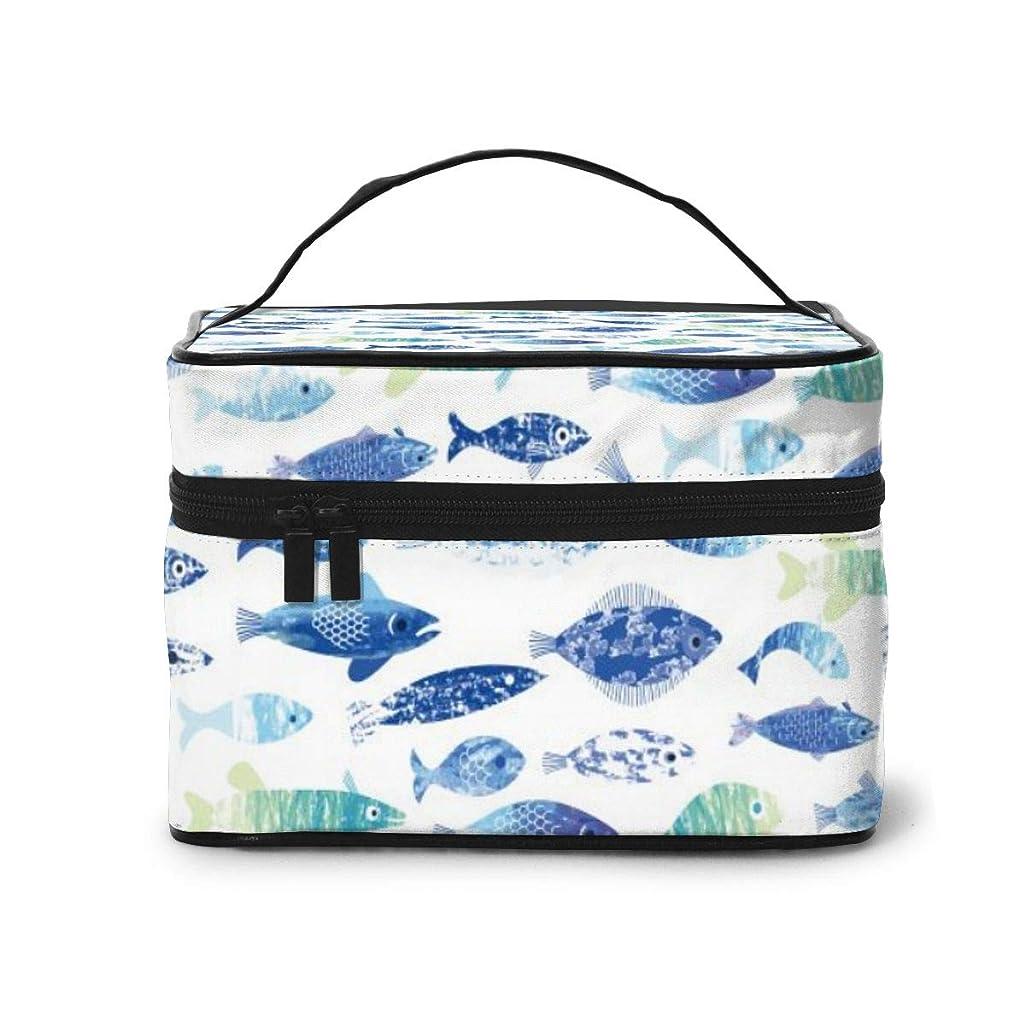 解放する手のひらイベントメイクポーチ 化粧ポーチ コスメバッグ バニティケース トラベルポーチ 魚 雑貨 小物入れ 出張用 超軽量 機能的 大容量 収納ボックス