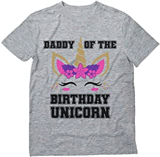 Daddy of The Birthday Unicorn Party Matching Family Dad T-Shirt