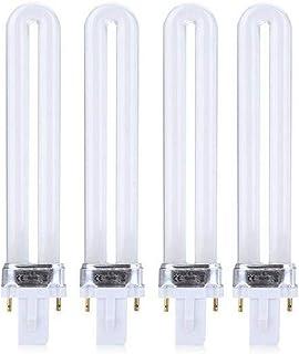 FLYPIG 4X Brand New UV-9W-L UV Gel Light Bulb Tube for Nail Art Curing Lamp 365nm Dryer