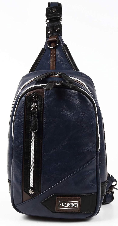 FULMINE ボディバック ワン ショルダーバック 大容量 貴重品を入れる際に役立つ左右からアクセス可能な背面ポケット付き