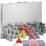 TecTake 402561 Set da Poker con Fiches Laser Chips e Valigetta da Alluminio, 1.000 Pezzi, ...