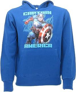 Marvel - Sudadera del Capitán América original de Super Eroe, producto oficial de los Vengadores de la camiseta con capuch...