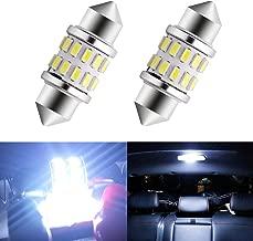 EverBrightt 2-Pack Cool White 31MM 3014 24SMD LED Festoon Light Lamp for Map Light Dome Light Trunk Light Plate Light