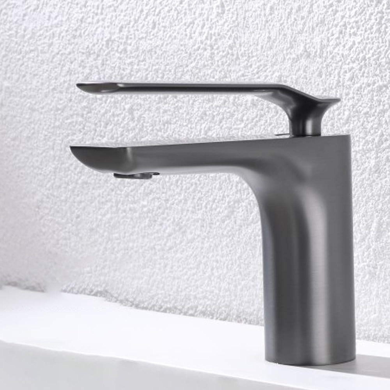 OrzXin Waschtisch-Mischbatterie, Einhand-Waschtischbatterie, graue warme und kalte Waschtischarmatur, Badezimmer-   Küchenwaschbecken-Inneneinrichtung