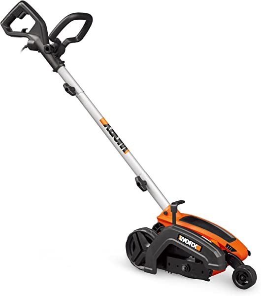 WORX WG896 12 Amp 7 5 Electric Lawn Edger Trencher 7 5in Orange And Black