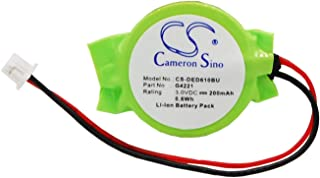VINTRONS Replacement CMOS Battery for DELL Latitude D505, (200mAh/0.6Wh),