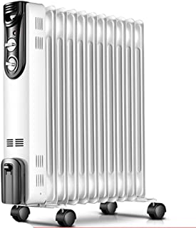 GLJY Radiador Lleno de Aceite, Temporizador y termostato de 11KW de Aleta 11, Calentador eléctrico portátil, termostato y Corte de Seguridad