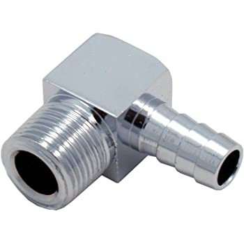 ICT Billet Straight 3//8 NPT Pipe to 5//8 .625 Hose Barb Fitting Black Billet Aluminum F375NP625BA