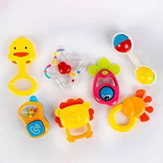 Baby Rattles Bag Set For Babies, Multicolor, With Different Shapes