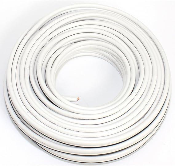 Lautsprecherkabel 2x2 50mm2 10m Weiss Cca Elektronik