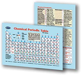 Chemical Periodic Table of Elements Wallet Chart - Heavy Guage Lamination and Wallet Sized 2.25