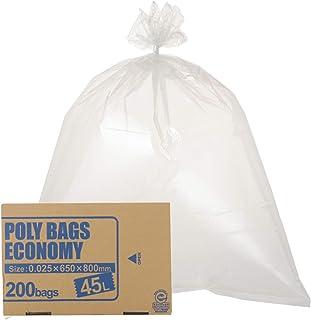 オルディ ゴミ袋 透明 45L 厚み0.025mm 収納に便利な箱入り ポリバッグエコノミー ポリ袋 PBE-N45-200 200枚入