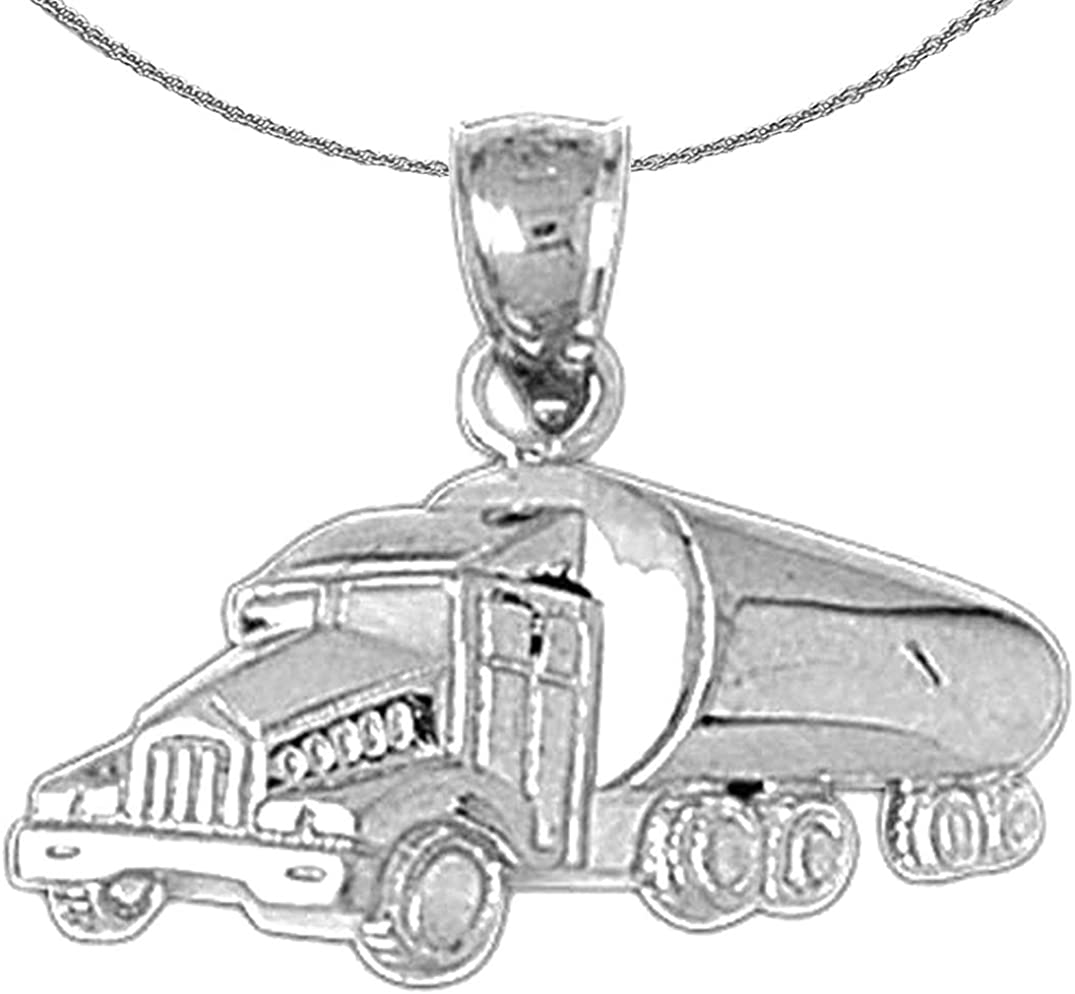 Selling rankings discount Jewels Obsession Silver Cement Truck Rhodium-plated 9 Necklace