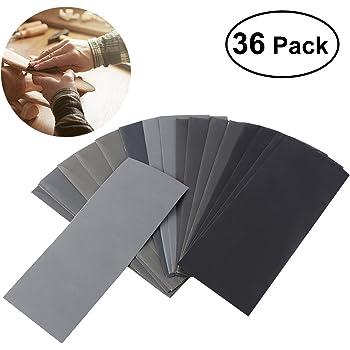2/por 800//1000//1200//1500//2000/lija en seco//mojado impermeable papel Pack de 10 230/x 280/mm mixtos granos
