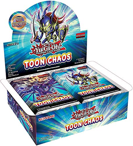 A YuGiOh! Toon Chaos Booster Display Reprint 2.Ausgabe | DEUTSCH | NEU & OVP | Yu-Gi-Oh Karten | + Arkero-G 100 Small Soft Sleeves
