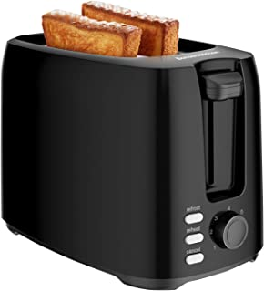 Bonsenkitchen Grille Pain 2 Tranches avec 7 Niveaux de brunissage et Plateau à Miettes, 750W, Toaster Auto-pop up avec Fon...