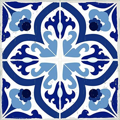 Mykonos Peel and Stick 13x13 Fliesenaufkleber für Böden, auch Wände, Fliesenspiegel und Möbel | ablösbar, keine Schäden Klebe-Bodenaufkleber für Linoleum- und Vinylböden, plus Keramik, Laminat, mehr