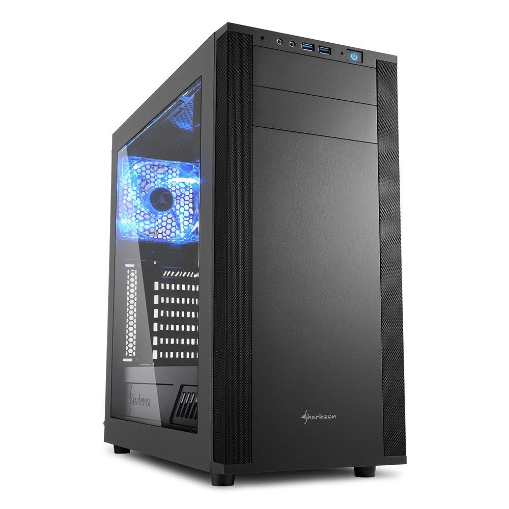 Sharkoon M25-W - Caja de Ordenador, PC Gaming, Semitorre ATX ...