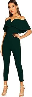 Women's Elegant Off Shoulder Ruffle High Waist Long Jumpsuit