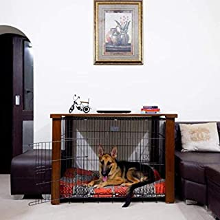 PETARCHI DESIGN STUDIO FOR PETS Dog Metal Crate/Cage and Wooden Crate/Cage Cover - Easy to Assemble and Dismantle Universa...