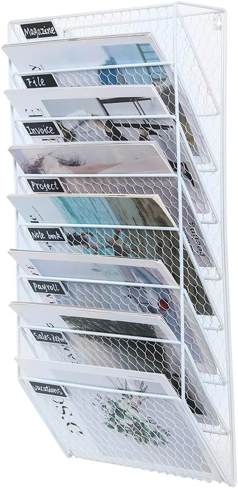PAG 8 Pockets Wall File Holder Popularity Metal Mail Organizer Mounted Dealing full price reduction