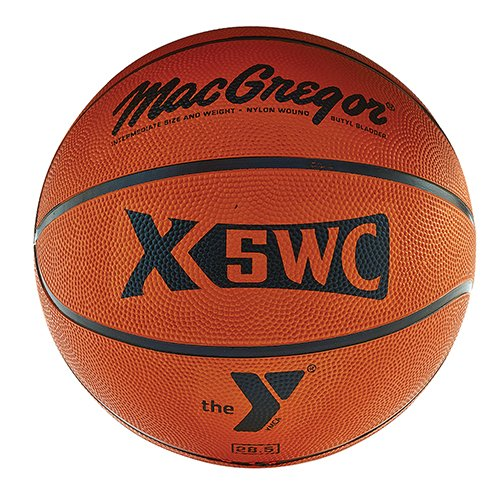 Best Prices! MACGREGOR Interm. Rubber Basketball W/YMCA Logo