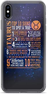 Compatible for iPhone X/XS Cover Case Top 10 Signs to Spot A True A True Taurus Space Deep Galaxy, Clear Anti-Scratch