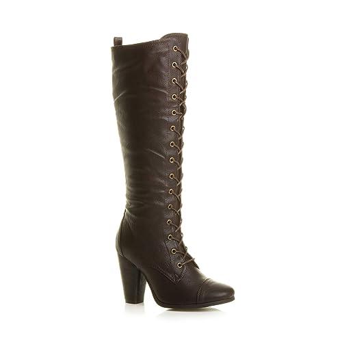 20b10701e2067 Brown High Heel Boots: Amazon.co.uk