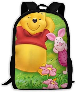Custom Pooh with Piglet Casual Backpack School Bag Travel Daypack Gift
