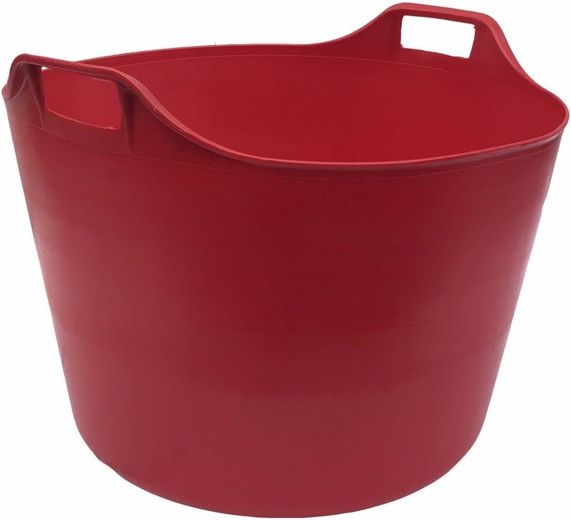 MADE IN U.K LIME GREEN KetoPlastics 76 LITRE EXTRA LARGE Heavy Duty Flexi Tub Garden Home Flexible Colour Plastic Storage Container Bucket Flex Tub