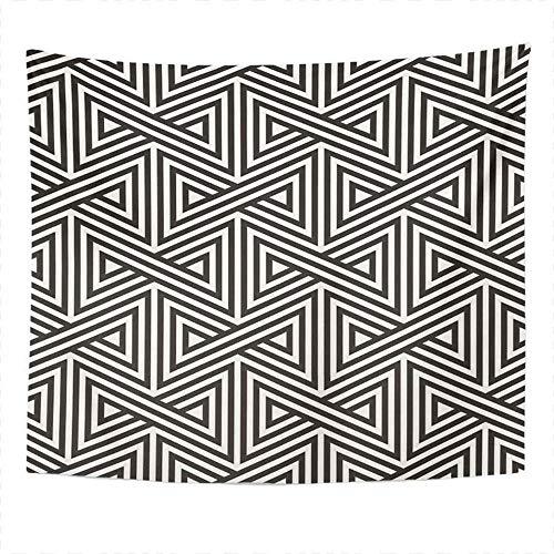 Tapiz abstracto Azulejos geométricos Triángulos a rayas Decoración del dormitorio del hogar Tapiz Manta colgante de pared para sala de estar Dormitorio 150x179CM