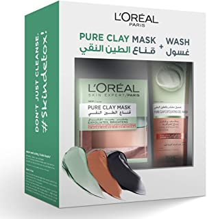 L'Oreal Paris Pure Clay Mask & Wash - Your Brightening Routine