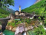 OAEC Puzzle Für Erwachsene 500 Teile Jigsaw Puzzle DIY Klassisches Holzpuzzles Tessin, Schweiz...